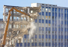 Gebäudedemolierung Lizenzfreie Stockfotografie
