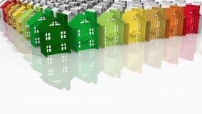 Gebäudeenergieleistung Stockbild