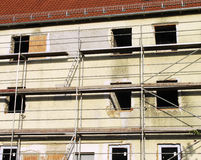 Gebäudeerneuerung Stockbild