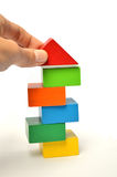 Gebäudefarbblockturm stockfotos