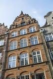 Gebäudefassade Gdansk Stockfotos