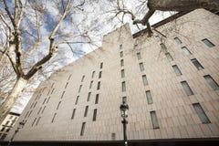 Gebäudefassade, Katalonien-Quadrat Barcelona, Spanien Stockfotos