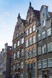 Gebäudefassaden Gdansk Stockfoto