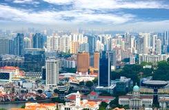 Gebäudegeschäftsstadt Singapur lizenzfreie stockfotos