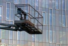 Gebäudeheber Stockfoto