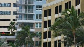 Gebäudehintergrund Brickell Florida stock video