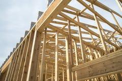 Gebäudeholzgestaltung Stockfotos