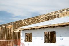 Gebäudeholzgestaltung stockfotografie