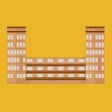 Gebäudeikone Stilvoller Wolkenkratzer Stockfotografie