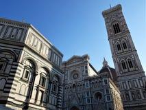Gebäudekomplex Florence Duomos vier stockfotografie