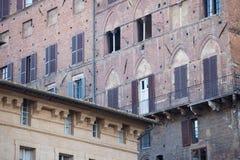 Gebäudenahaufnahme, Siena, Italien Lizenzfreie Stockfotos