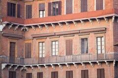 Gebäudenahaufnahme, Siena, Italien Stockbilder