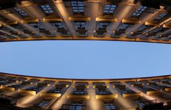 Gebäudeperspektive Stockbild