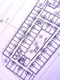 Gebäudeplan, Bürohaus Lizenzfreie Stockfotos