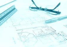 Gebäudeplan, Hotel Lizenzfreie Stockbilder