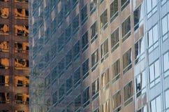 Gebäudereflexion in L A - Muster/Beschaffenheit lizenzfreies stockbild