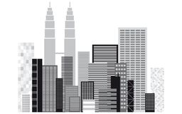 Gebäudeschattenbild Lizenzfreie Stockfotos