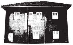 Gebäudeschattenbild Stockfotografie