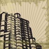 Gebäudeschattenbilder Stockfoto