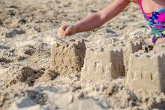 Gebäudeschlösser aus Sand heraus Lizenzfreie Stockbilder