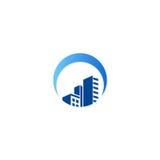Gebäudestadtbild-Baulogo Lizenzfreie Stockfotos