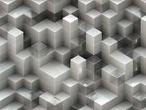 Gebäudestruktur von den Würfeln. Abstrakte Architekturhintergründe Stockfoto