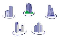 Gebäudesymbole stock abbildung