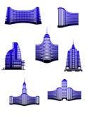 Gebäudesymbole lizenzfreie abbildung
