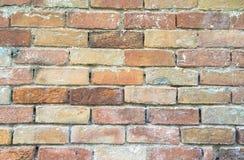 Gebäudethema Nahaufnahme der Wand der Ziegelsteine Stockfoto
