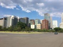 Gebäudewald Ginza Tokyo lizenzfreies stockbild