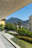 Gebäudewohnung, Balkon Stockfoto