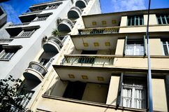 Gebäudewohnungen Stockfoto