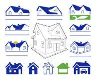 Gebäudezeichen-Logosatz Lizenzfreie Stockfotografie