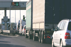 Gebührenstelle auf der Autobahn lizenzfreie stockfotografie