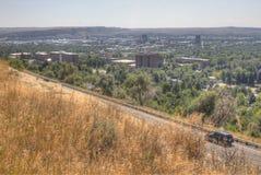 Gebührenzählungen, Montana, wie von oben genanntem im Sommer gesehen stockfoto