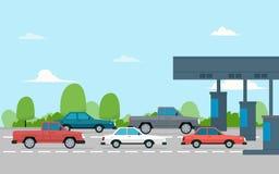 Gebührnpiazza mit Autos Stockfotografie