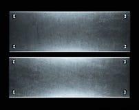 Gebürstete metallische Aluminiumplatte nützlich für backgro Lizenzfreie Stockbilder