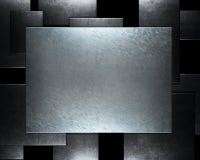 Gebürstete metallische Aluminiumplatte nützlich für backgro Stockfoto