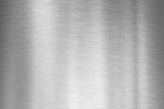 Gebürstete silberne Metallplatte Lizenzfreie Stockfotografie