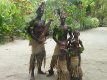 Gebürtige Leute in Vanuatu Lizenzfreie Stockfotos
