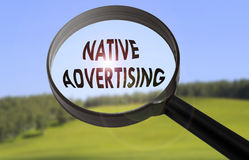 Gebürtige Werbung Lizenzfreie Stockbilder