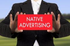 Gebürtige Werbung Stockfotos