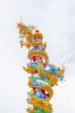 Gebürtiger alter chinesischer Drache lizenzfreie stockbilder