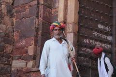 Gebürtiger Mann von Rajasthan, Indien Lizenzfreies Stockbild