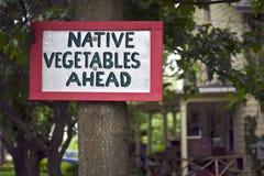 Gebürtiges Gemüse-Zeichen Lizenzfreie Stockbilder