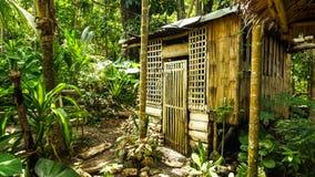 Gebürtiges Haus in den Philippinen stockbild