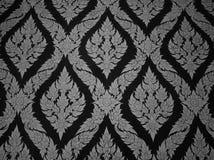Gebürtiges siamesisches gemaltes Muster der strukturierten Wand stockfotografie