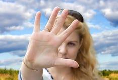 Gebaar, hand, verbod Stock Afbeeldingen