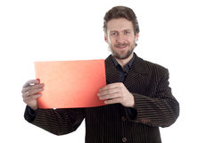Gebaarde manager stock foto