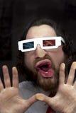 Gebaarde Mensen 3D Glazen Royalty-vrije Stock Afbeelding
